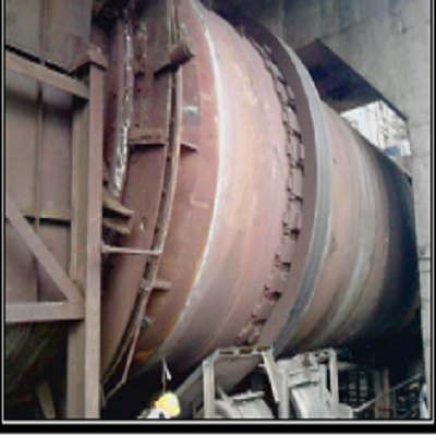 Rotary Kiln in service after reconditioned