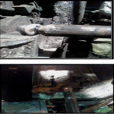 Ash Track Drive Shaft joined by Lotherme 470M